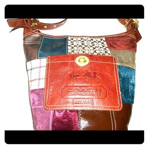 Authentic Holiday Patchwork Coach Duffle